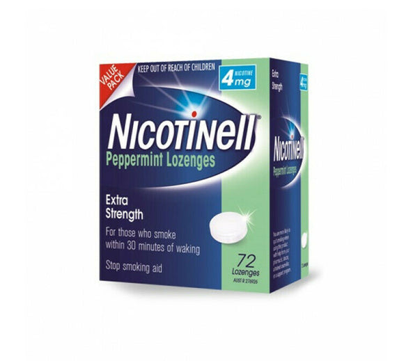 Nicotinell® Peppermint Lozenges 4mg Extra Strength 72 Pack