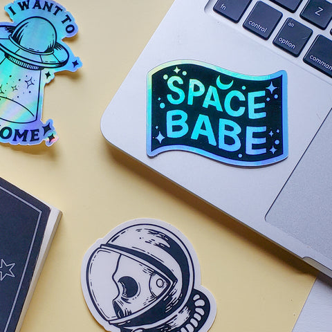 Holographic Space Stickers