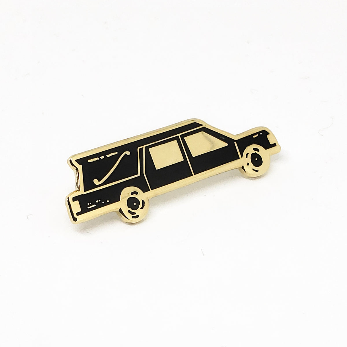 Hearse Delivery Halloween Themed Enamel Pin