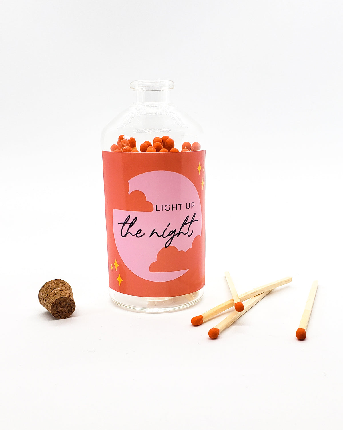 Light Up the Night - Colorful Matches in Glass Jar