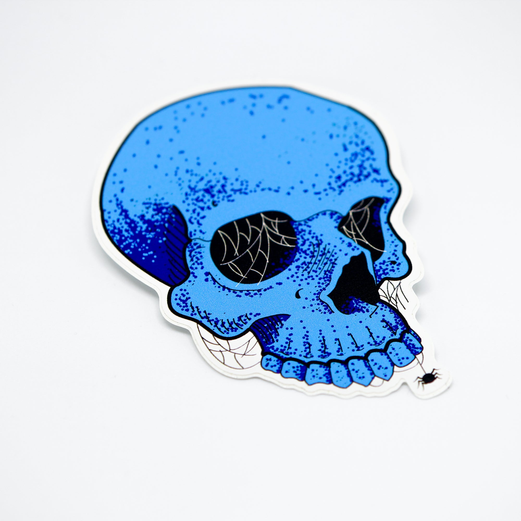 Blue Skull Sticker
