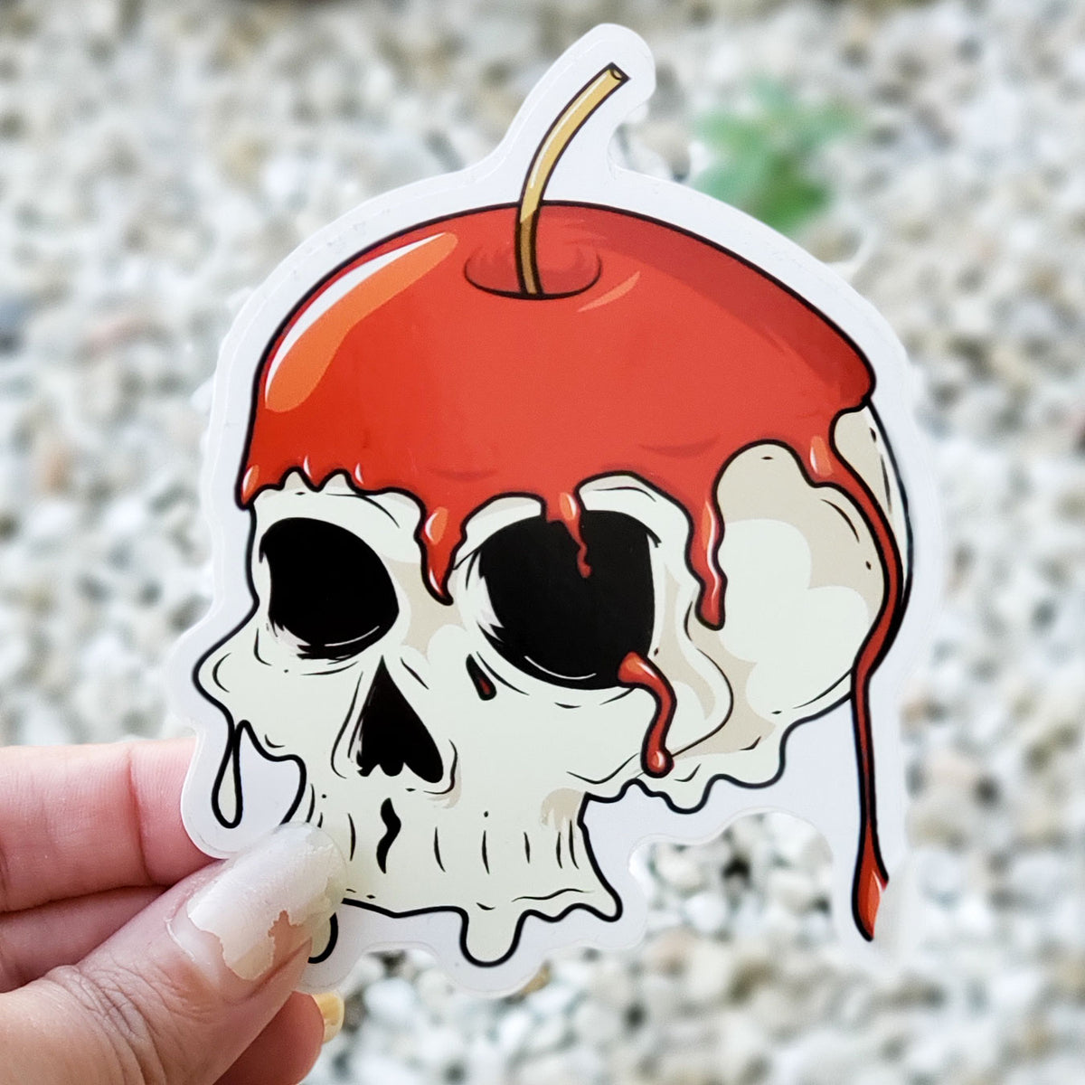 Evil Apple Sticker