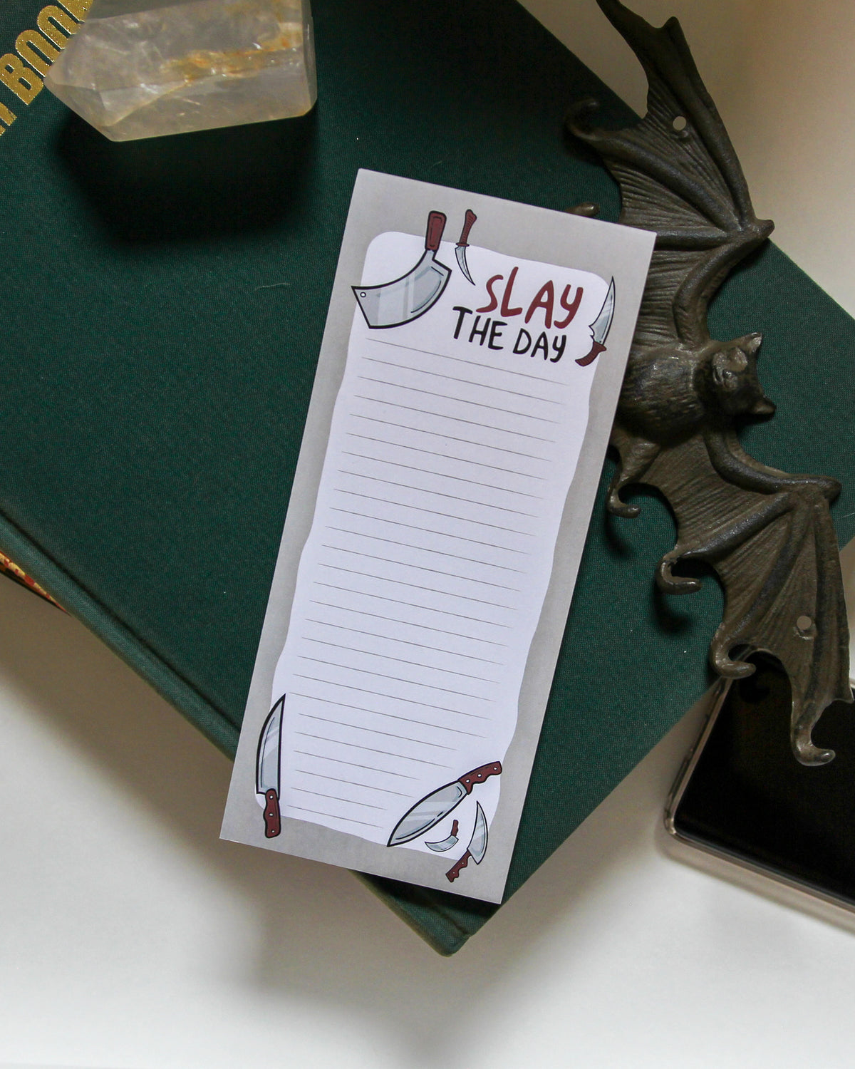 Slay the Day Market List Notepad