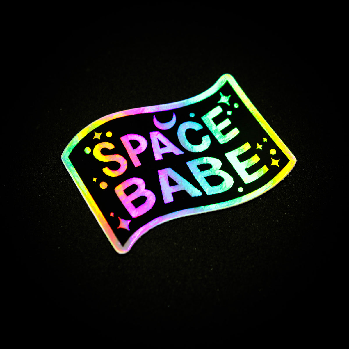 Space Babe Holographic Sticker
