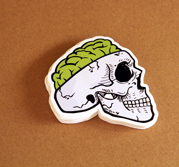 Zombie Brain Sticker