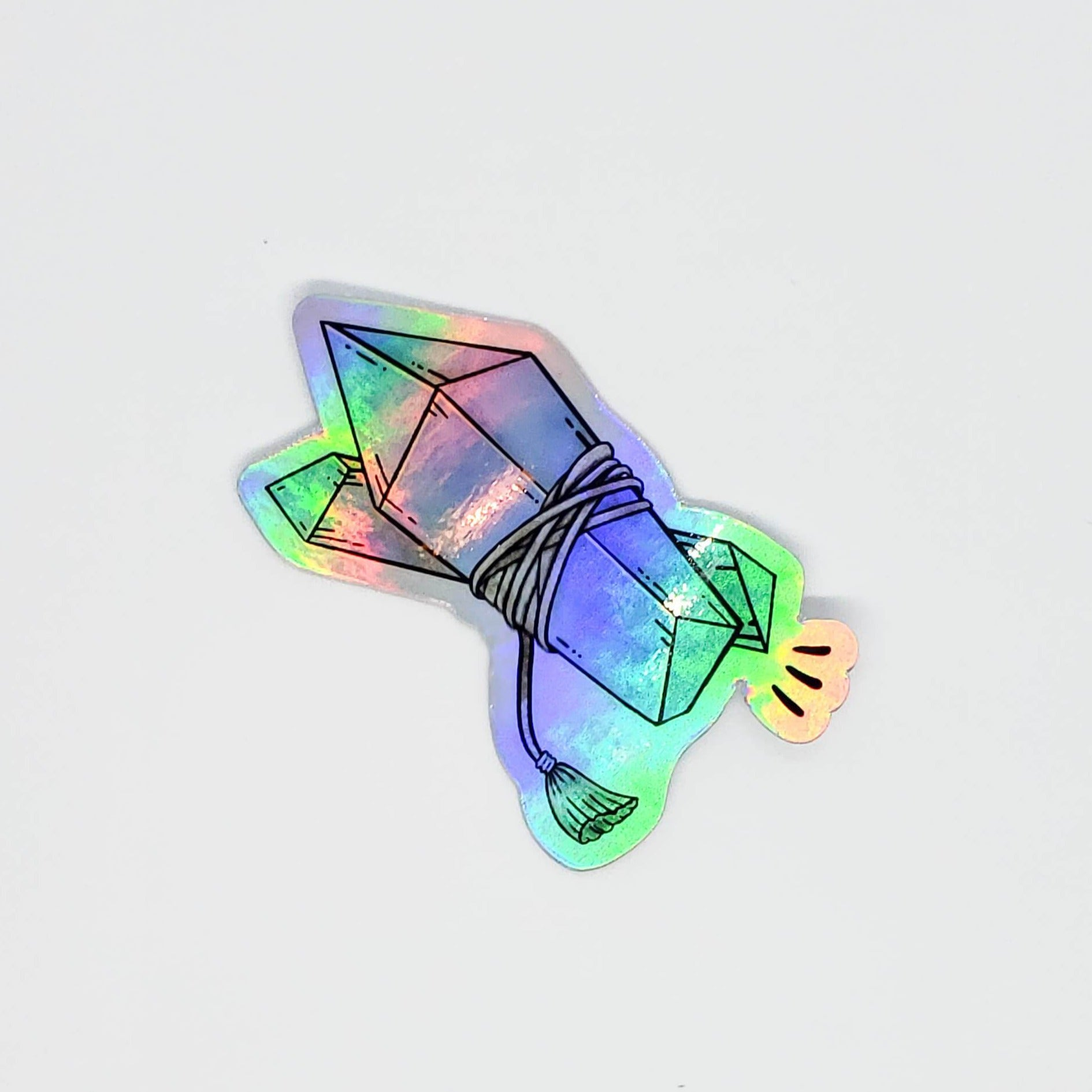 Crystal Clear Holographic Sticker
