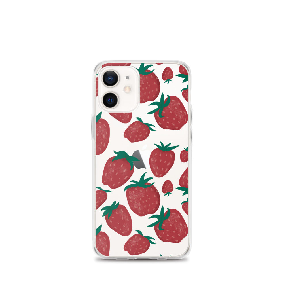 Strawberry Fields Transparent iPhone Case