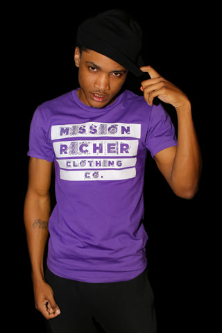 """Inverted Message"" T-shirt in Purple"