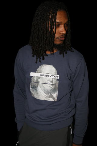 """Big Face Benjamin"" Crew Neck"