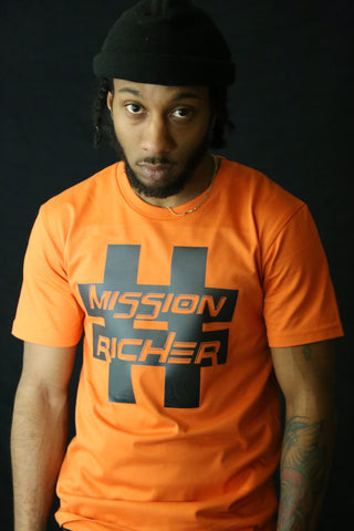 """Hashtag"" T-shirt in Orange"
