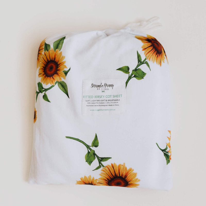 Snuggle Hunny Kids | Sunflower | Fitted Cot Sheet