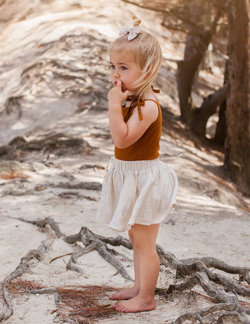 Karibou | Dance And Play Cotton Skirt - Almond Milk
