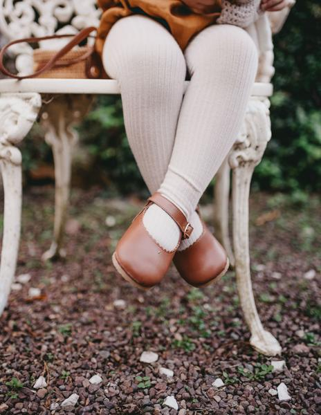 Karibou | Classic Ribbed Unisex Tights - Fawn
