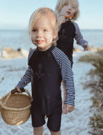 Purebaby | Long Sleeve Sunsuit French Navy