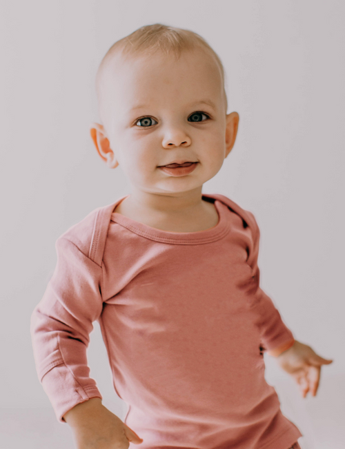 L'oved Baby | Organic L/Sleeve Shirt in Mauve