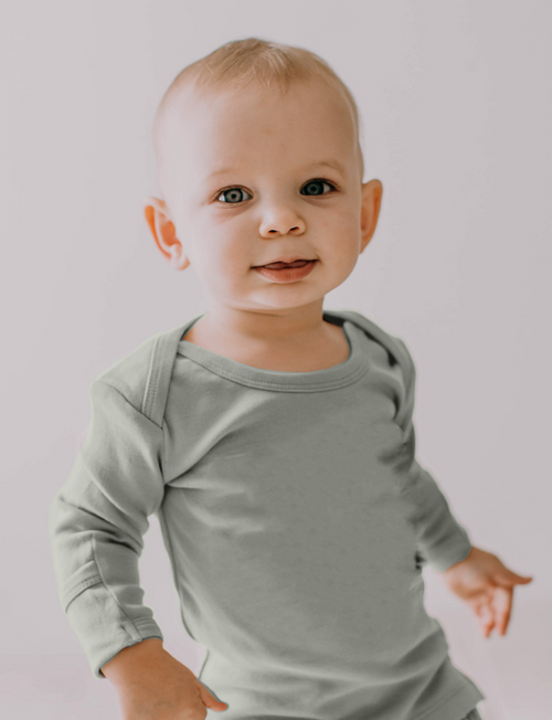 L'oved Baby | Organic L/Sleeve Shirt in Seafoam