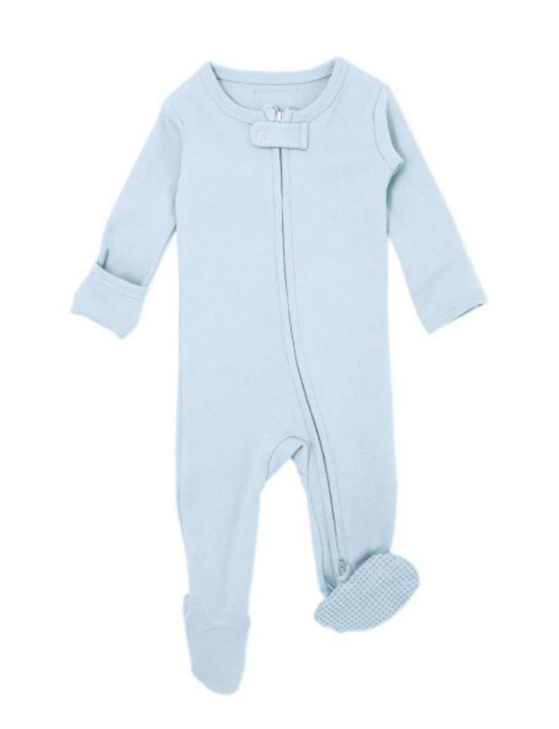 L'ovedbaby | Organic Zipper Jumpsuit | Moonbeam