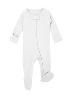 L'ovedbaby | Organic Zipper Footie - White