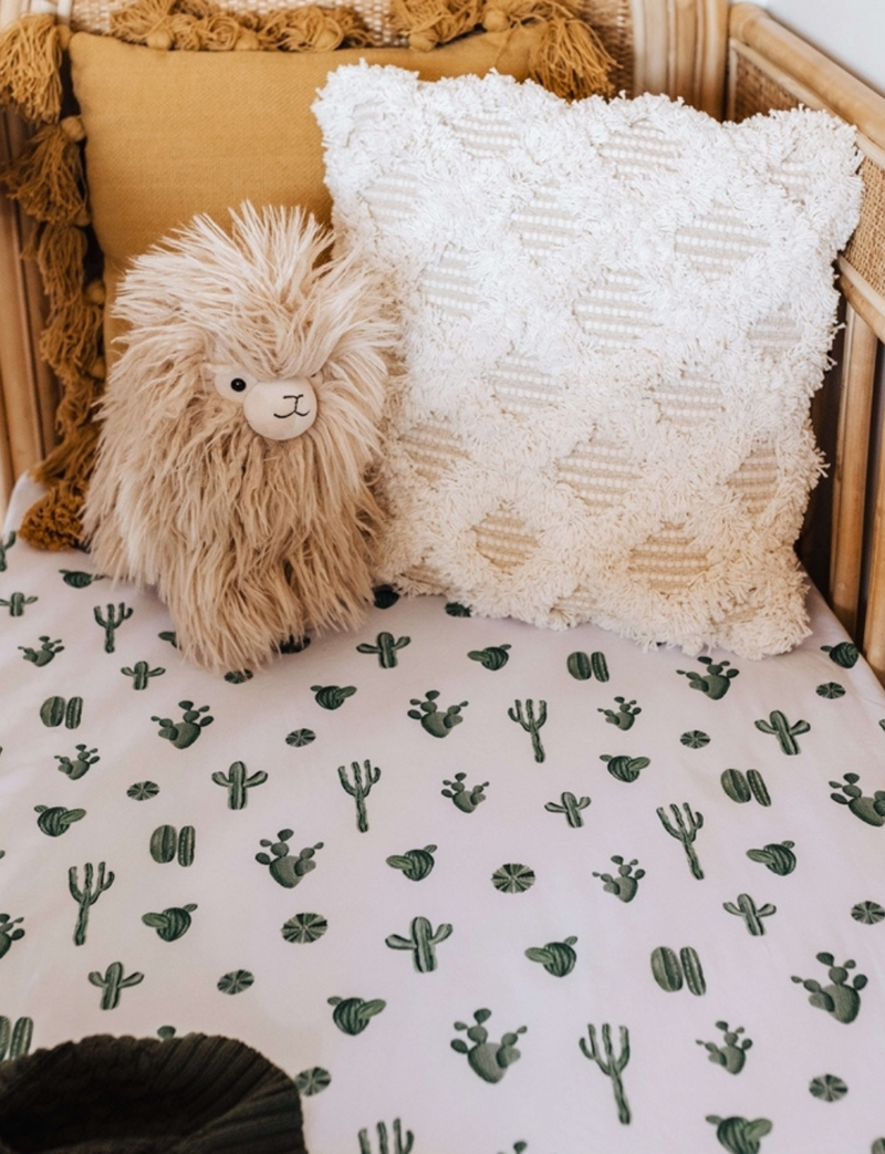 Snuggle Hunny Kids |  Cactus | Fitted Cot Sheet