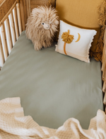 Snuggle Hunny Kids | Sage | Fitted Cot Sheet