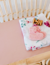 Snuggle Hunny Kids | Lullaby Pink | Bassinet Sheet / Change Pad Cover