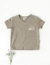 Karibou | Little Explorer Boys Cotton Slub T-Shirt - Herb