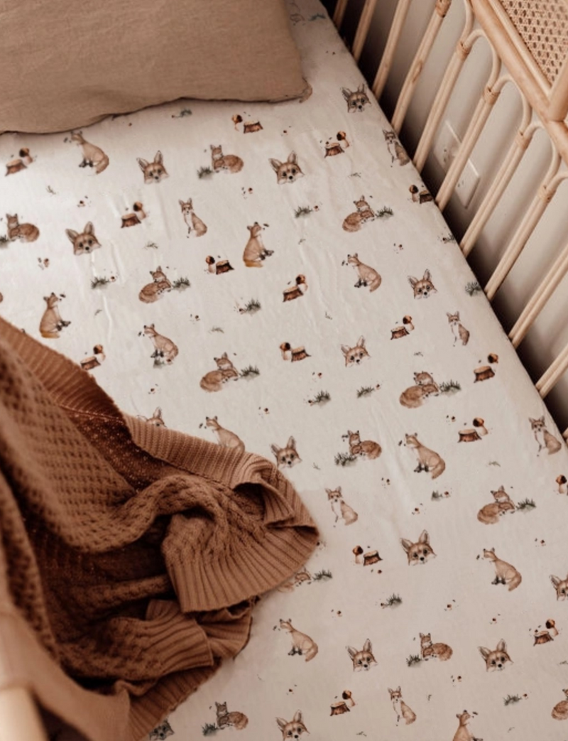 Snuggle Hunny Kids | Fox | Fitted Cot Sheet