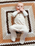 Enchanted Label | Waffle Romper - Frosted Almond