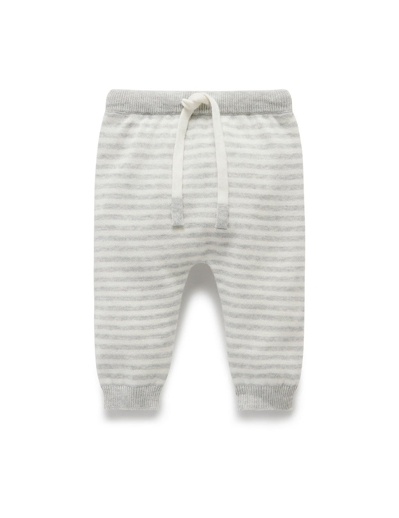 Purebaby | Stripe Knit Legging