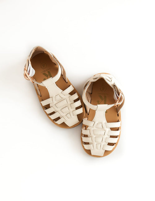 Karibou | Aella Leather Sandals - White