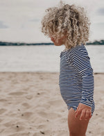 Purebaby | Long Sleeve Swimsuit French Stripe