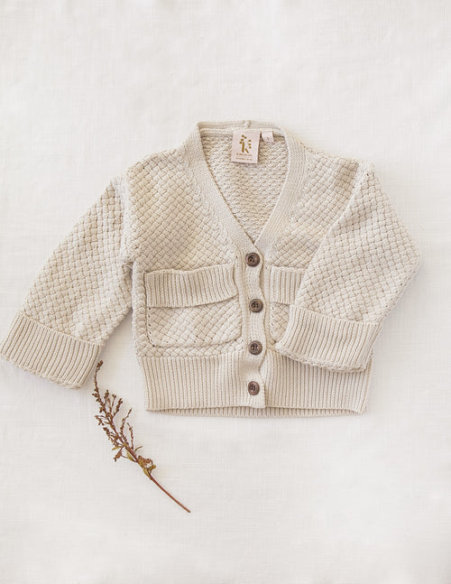 Karibou | Carter Cotton Knit Cardigan - Natural