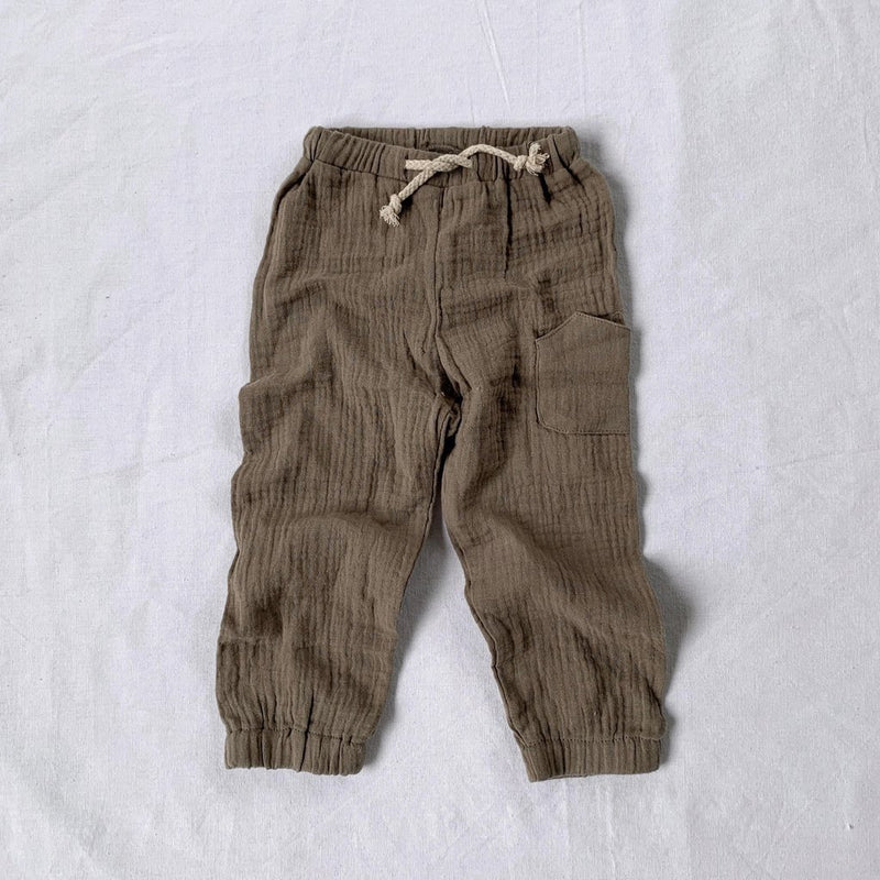 Enchanted Label | Muslin Pants - Olive