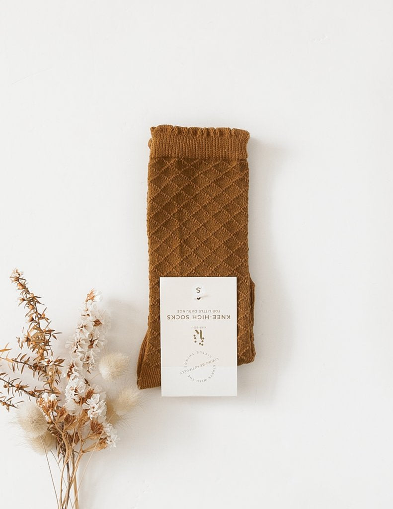 Karibou |  Picnic Knee-High Socks - Chestnut