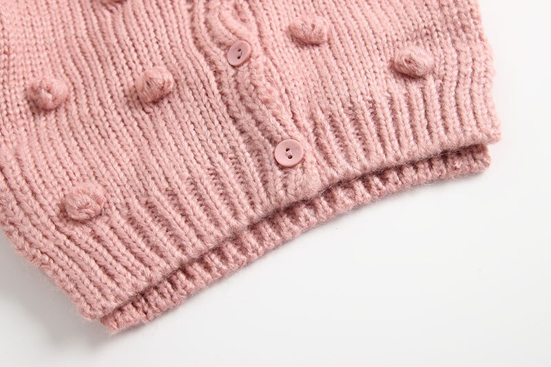 Knitted Winter Cardigan - Pink