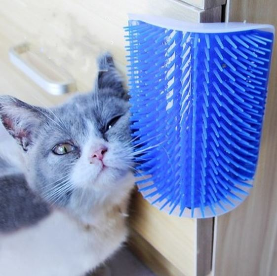 Brosse d'angle pour chat (avec herbe à chat) 😺🐈