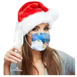 "Lot de 10 Masques de protection ""Noël 2020"""