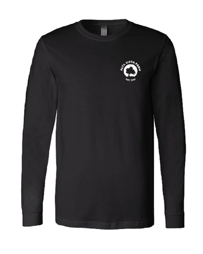 Black long sleeve t with the Milk Room Brewing Front Logo