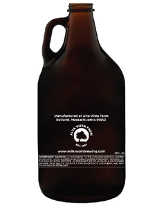 Classic Milk Room Brewing growler back