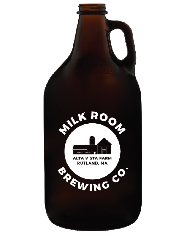 Classic Milk Room Brewing growler front