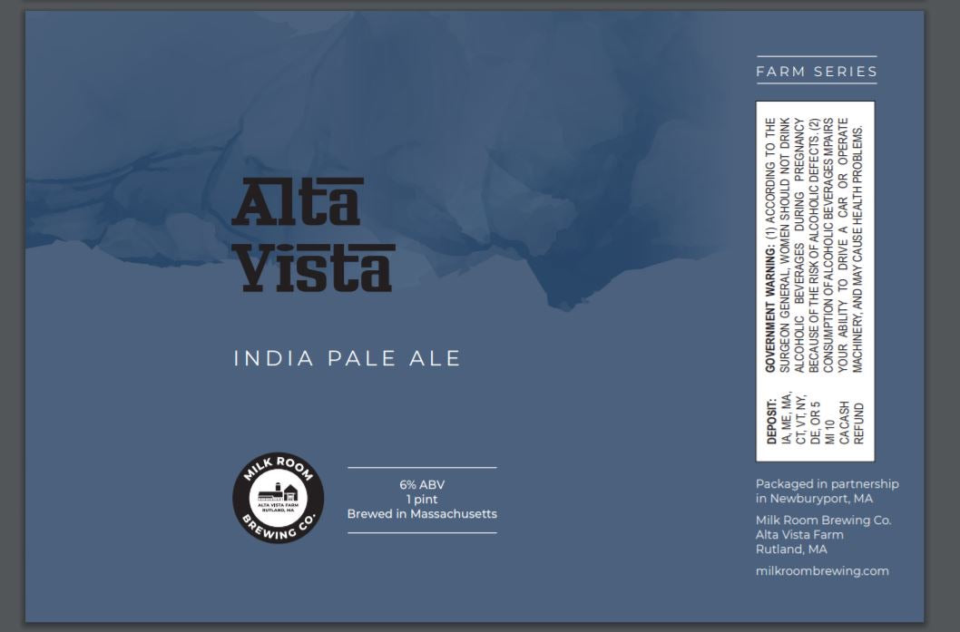 Alta Vista IPA 4 pack 16oz cans