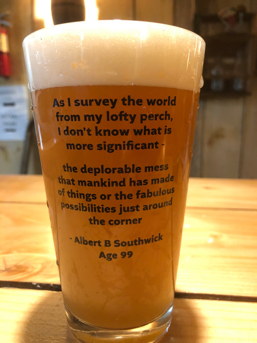 Albert Southwick Memorabilia Glass (proceeds to go to Leicester Historical Soceity)