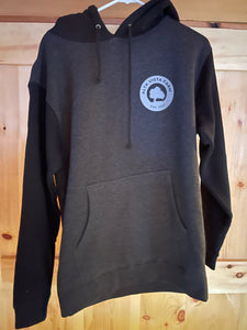 Dark gray distressed hoodie