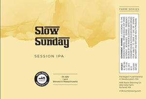 Slow Sunday Session IPA 4 pack 16oz cans