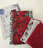 Poinsettia Ribbon Table Runner Kit