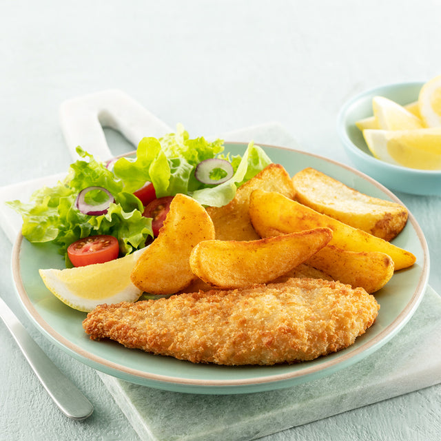 Crumbed Fish & Wedges