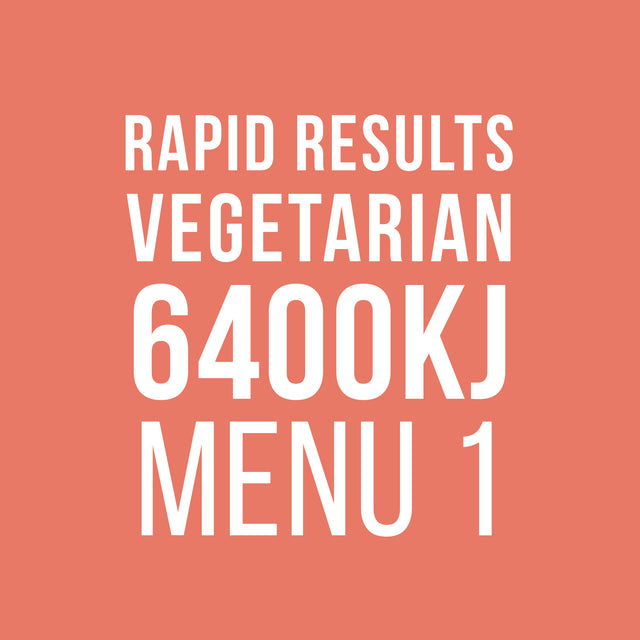 Rapid Results 6400kJ Vegetarian Menu 1