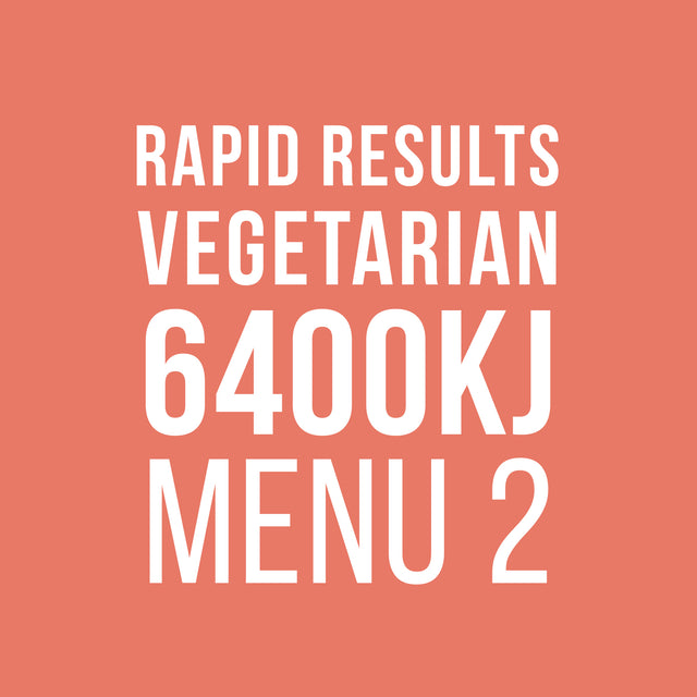 Rapid Results 6400kJ Vegetarian Menu 2