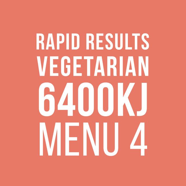 Rapid Results 6400kJ Vegetarian Menu 4