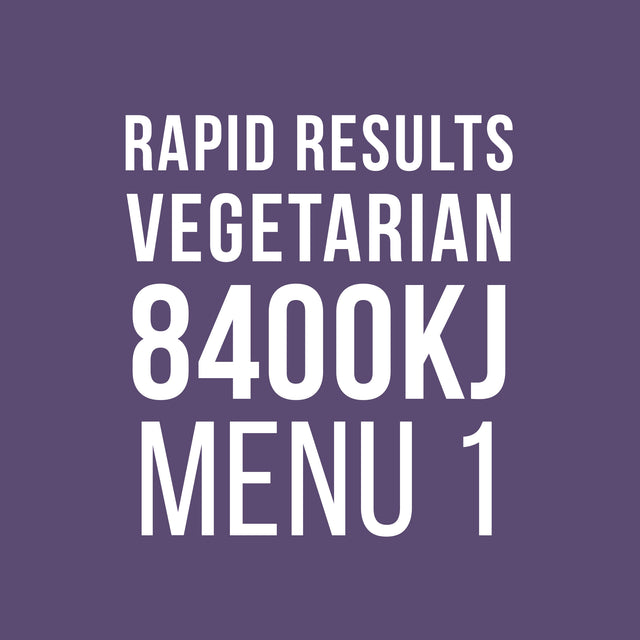 Rapid Results 8400kJ Vegetarian Menu 1